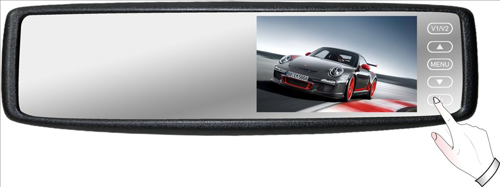 4.3 inch Rear View mirror monitor with universal bracket