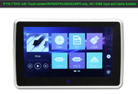 9 Inch Clip-on Headrest DVD Player with Touch screen/IR/FM/USB/SD/MP5
